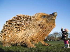 Giant Hedgehog Sculpture