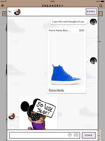 Whisp iPad Messaging Screen