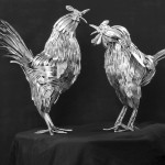 Fantastic Animal Sculptures Made out of Welded Flatware
