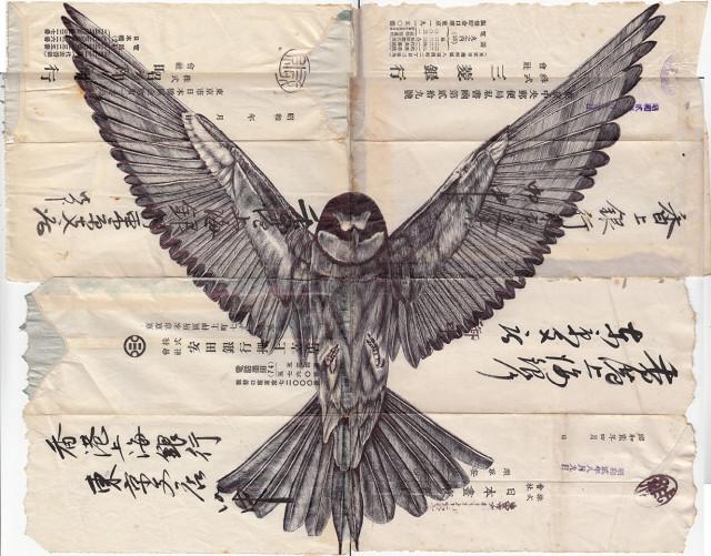 Paper scraps vintage images