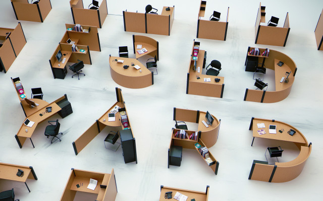 Typographic Office Cubicles