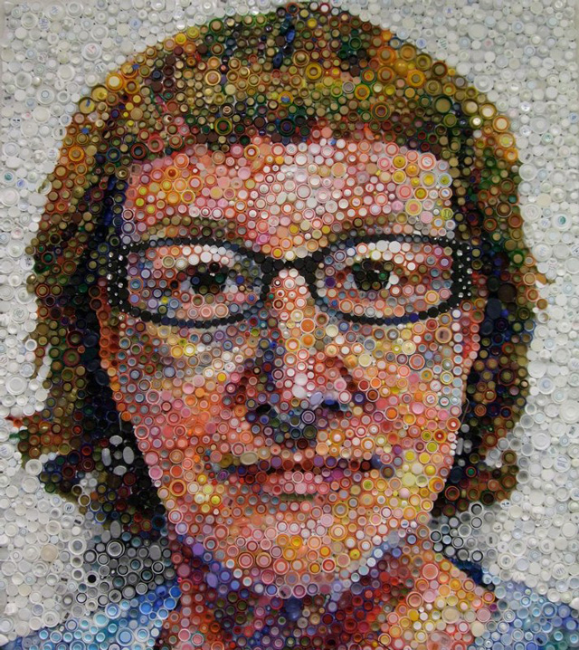 Close Bottle Caps Portrait