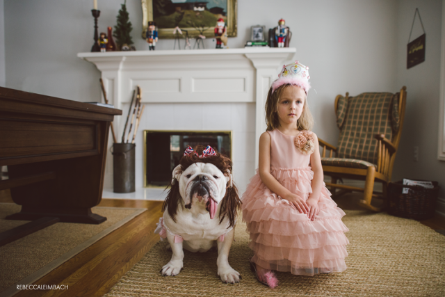 Harper and Lola Dressed Up