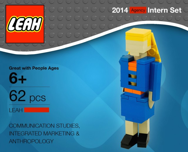 Lego Leah 2014 Intern Set
