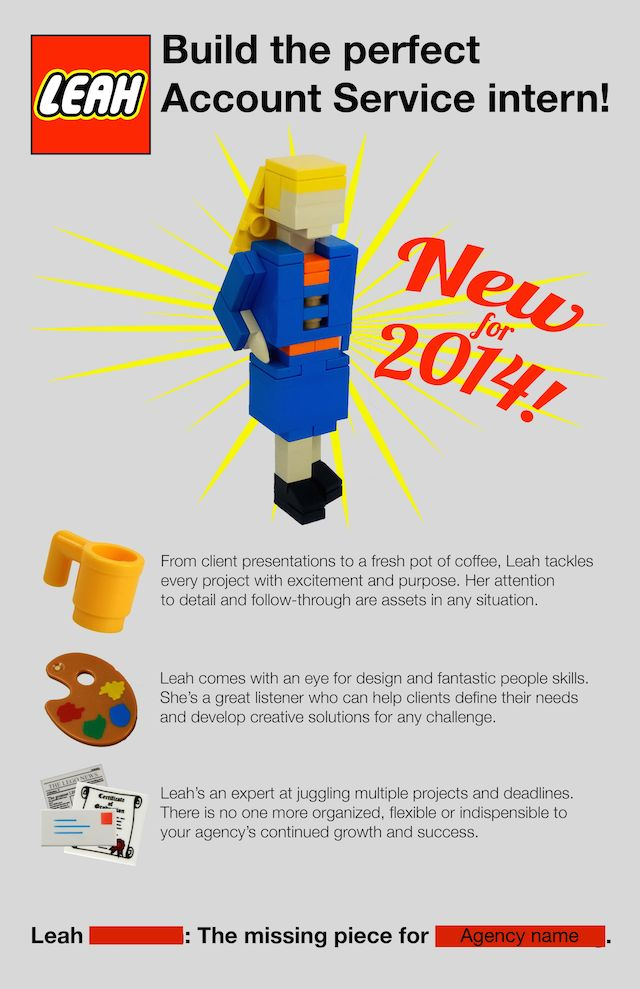 Woman Creates An Amazing LEGO Themed Résumé To Make Herself Stand ...
