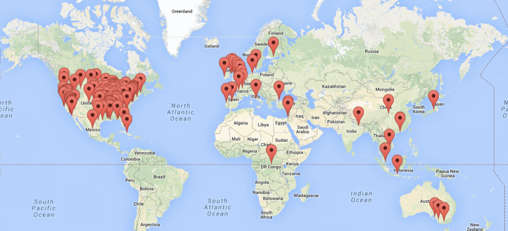The Tom Waits Map, An Interactive Map of Every Location Mentioned In the Songs of Tom Waits