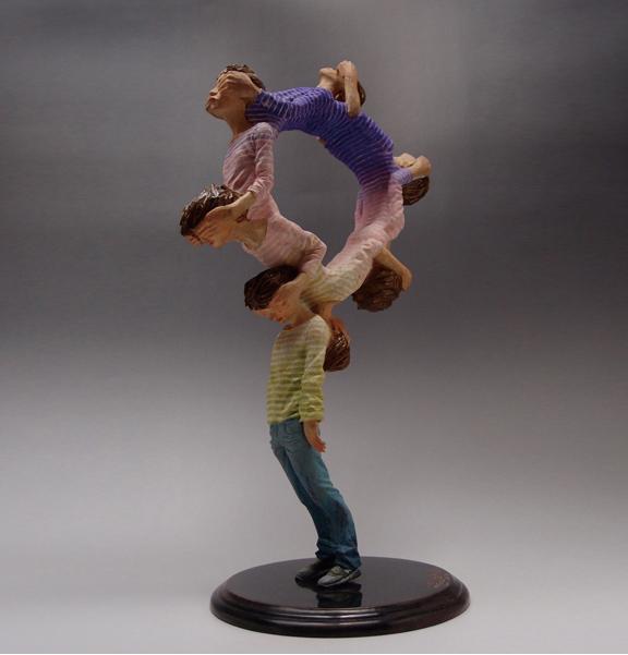 Fused Figure Sculptures by  Yoshitoshi Kanemaki