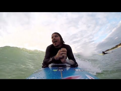 Australian Surfer Rides the Waves Without the Use of His Legs And Limited Use of His Arms