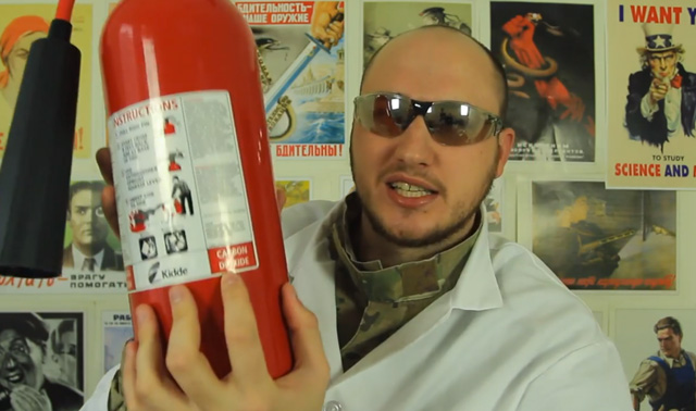 How to Make Dry Ice With A Fire Extinguisher and Pillowcase