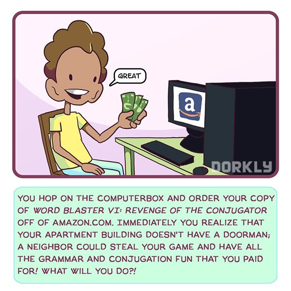CYOA Dorkly Comic Amazon