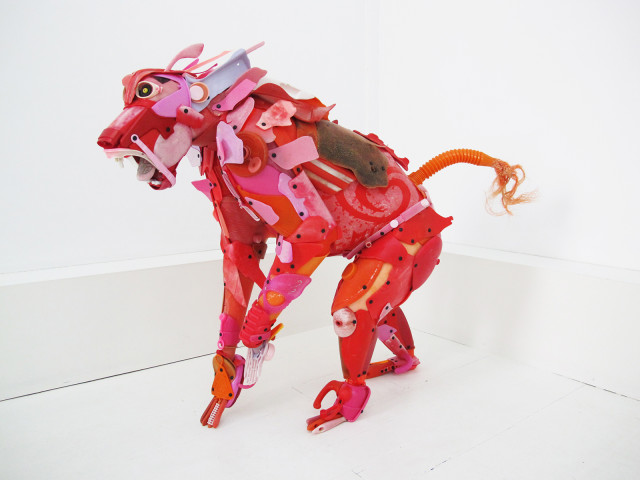 Plastic Beach Trash Animal Sculptures