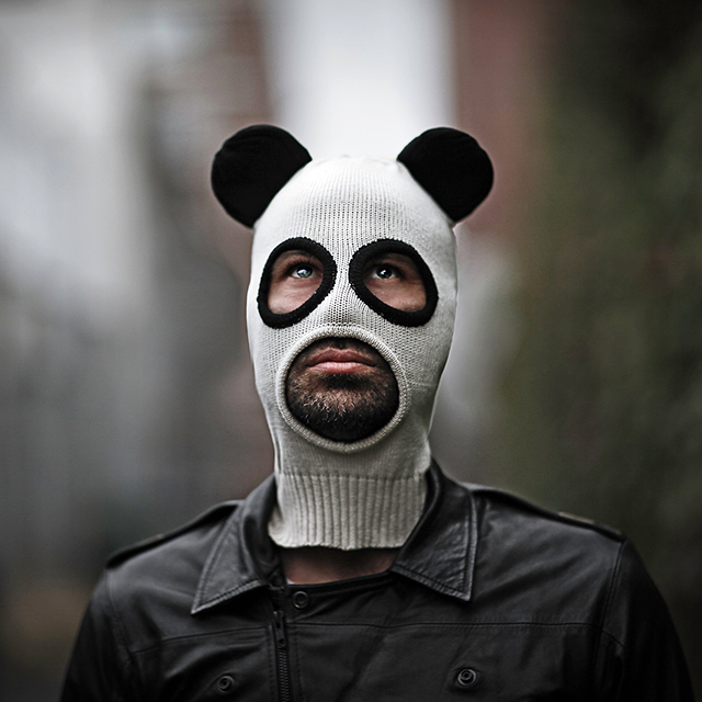 Pandito, A Cotton Knit Panda Ski Mask for Men and Women