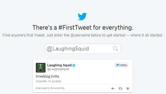 First Tweet Tool