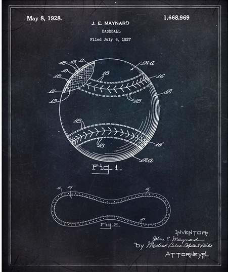 Oliver gal artist co turns patent application blueprints for turns patent application blueprints for everyday objects into framable wall art malvernweather Image collections