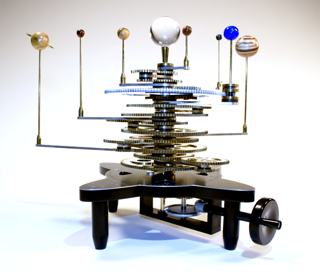 A Beautiful Handcrafted Orrery A Mechanical Model Of The