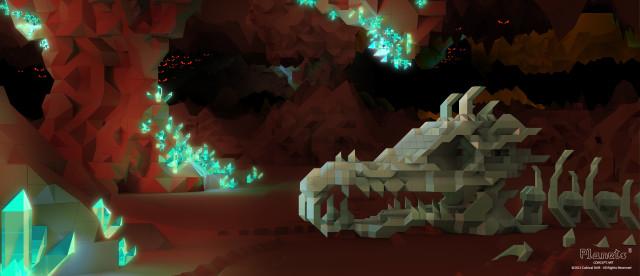 Planets Cube Cave Concept Art