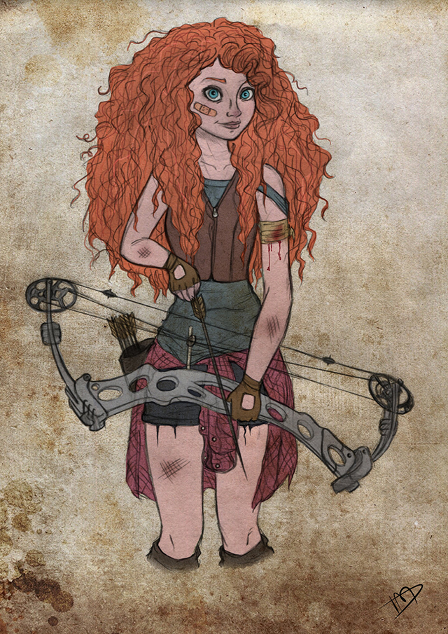 The Walking Disney : Merida by Kasami-Sensei