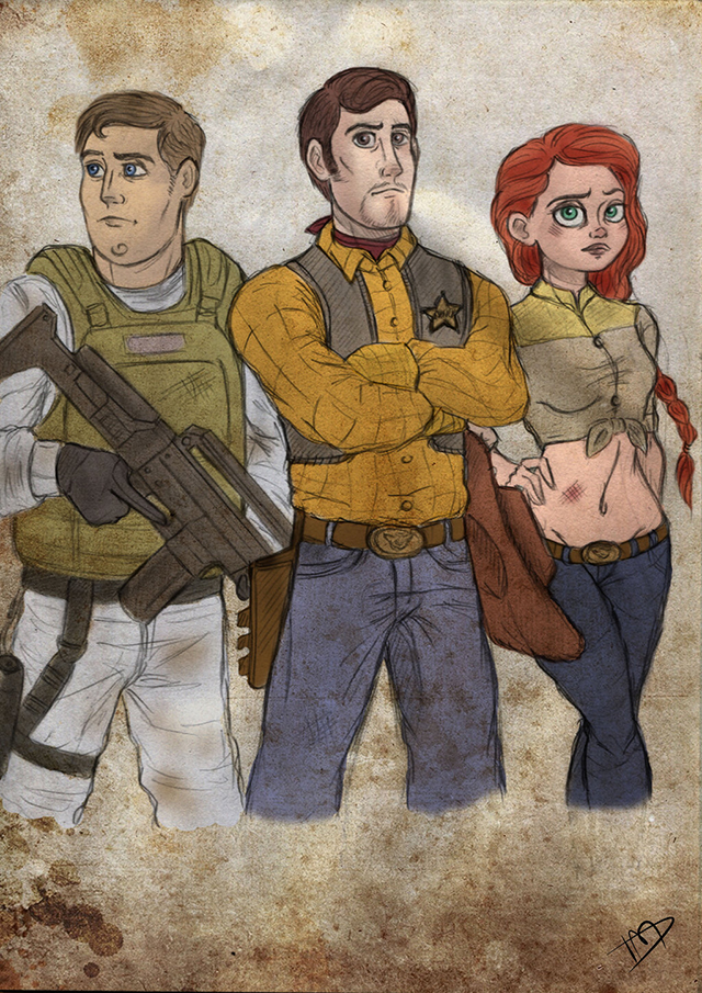 The Walking Disney : Woody, Buzz and Jessie by Kasami-Sensei