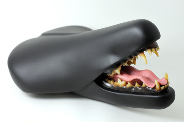 Creepy Bike Seat Sculptures by Clem Chen