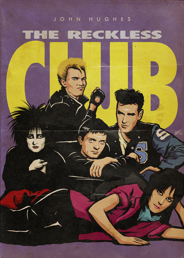 John Hughes Tribute >> John Hughes' The Reckless Club, The Cast of 'The Breakfast Club' Reimagined With 80s Rock Stars