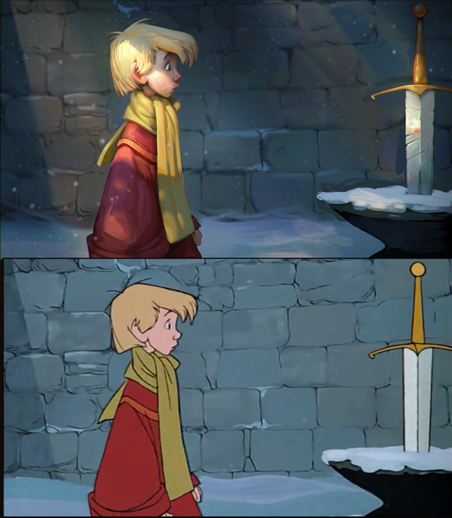 Artist Recreates Stills From Classic Disney Movies By Digitally Painting Over The Top Of Them