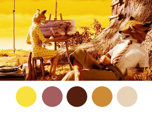 Wes Anderson Palettes - Fantastic Mr. Fox