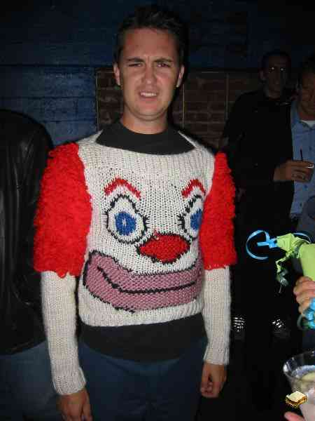 Wil Wheaton Creepy Clown Sweater