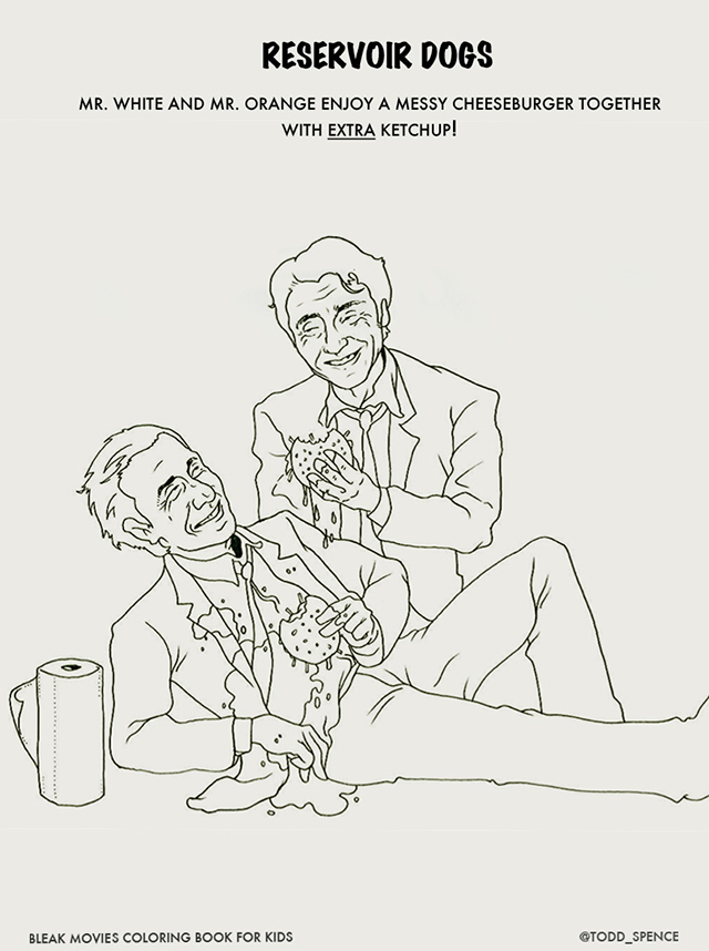 Bleak Movie Endings Coloring Book