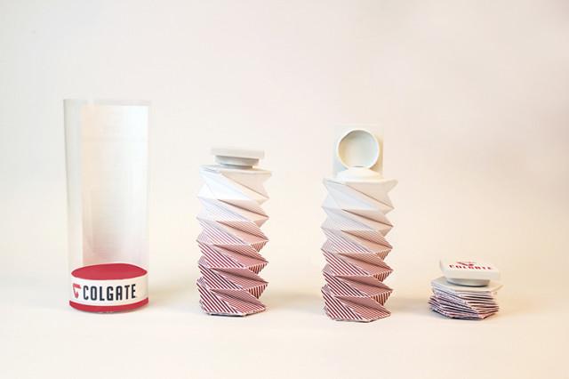 Origami Toothpaste Tube