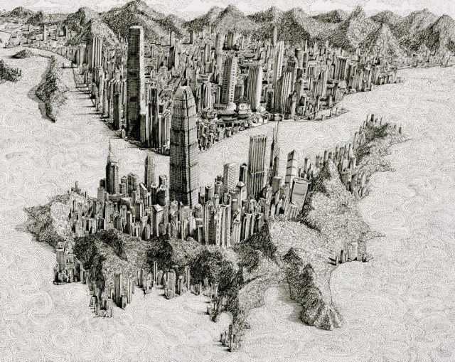 Pen and Ink Cityscapes by Ben Sack