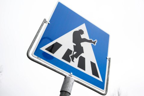Ministry of Silly Walks Sign in Norway