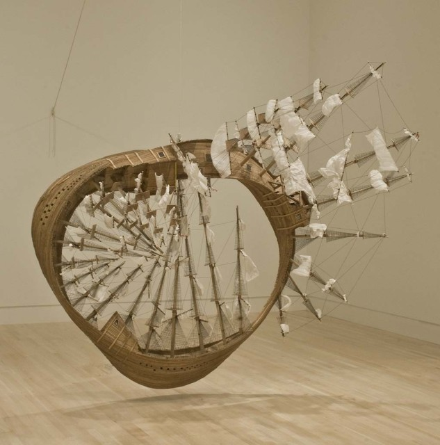 Mobius Ship by Tim Hawkinson