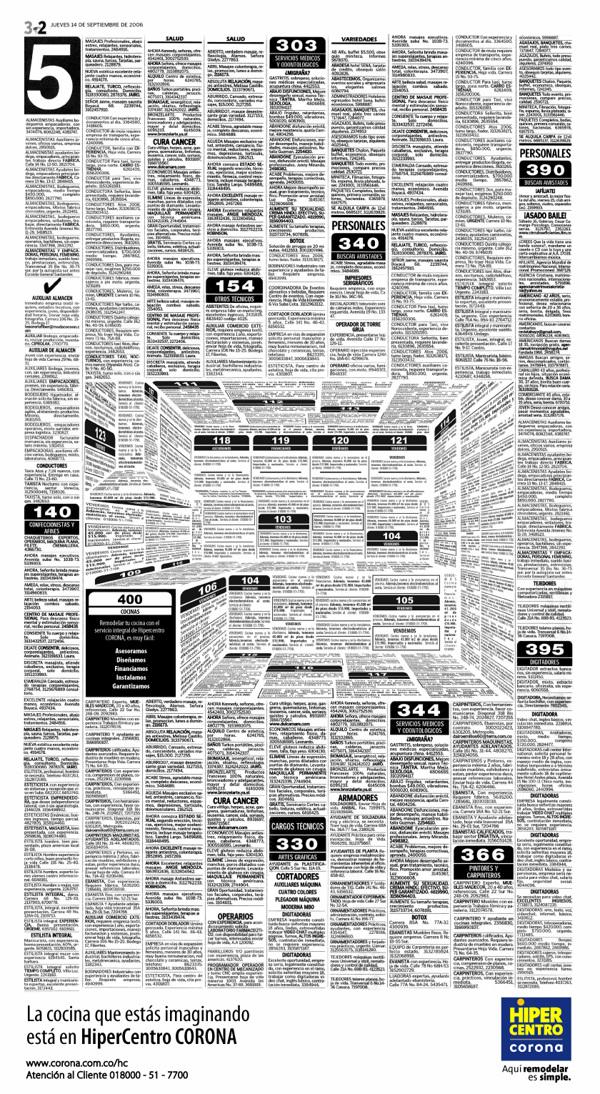 Newspaper Ad by Felipe Salazar