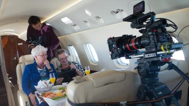An & Ria Filmed Eating