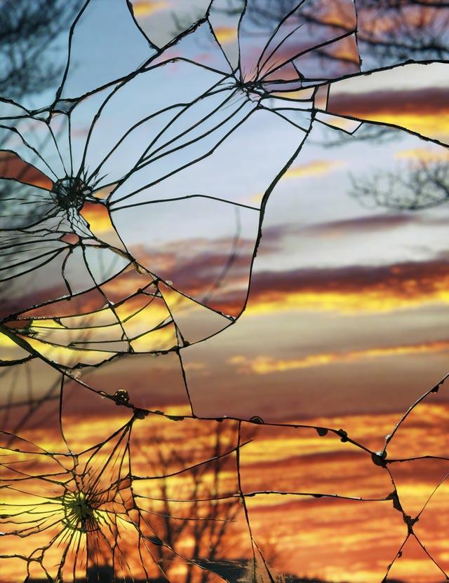 Broken Mirror/Evening Sky by Bing Wright
