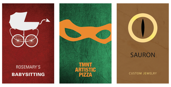 Business Card Designs That Imagine the Real World Jobs of Famous Movie and TV Show Characters
