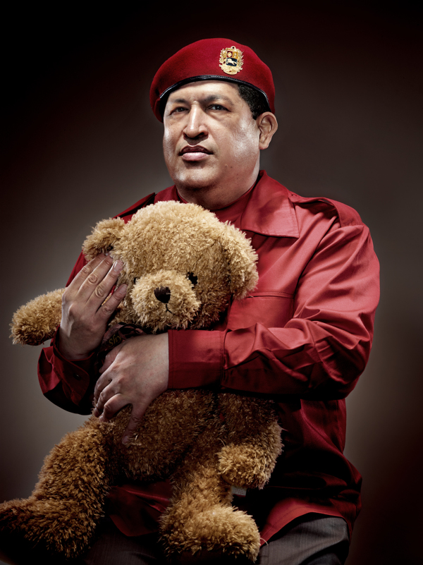 Chavez with Teddy Bear