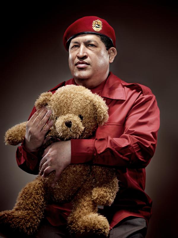 Chavez with Teddy Bear
