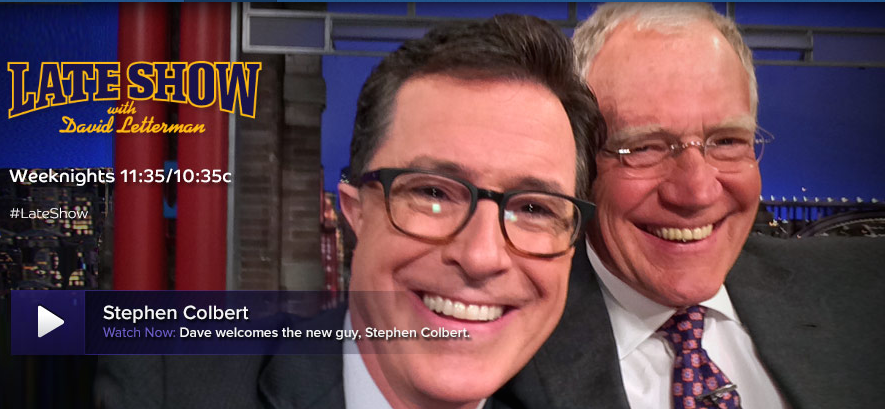 Colbert and Letterman