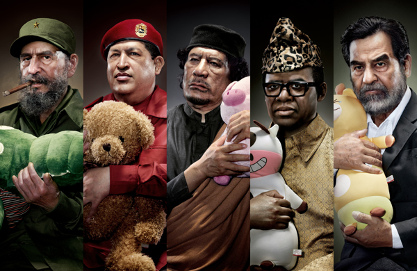Infamous Dictators Being Comforted By Stuffed Animals