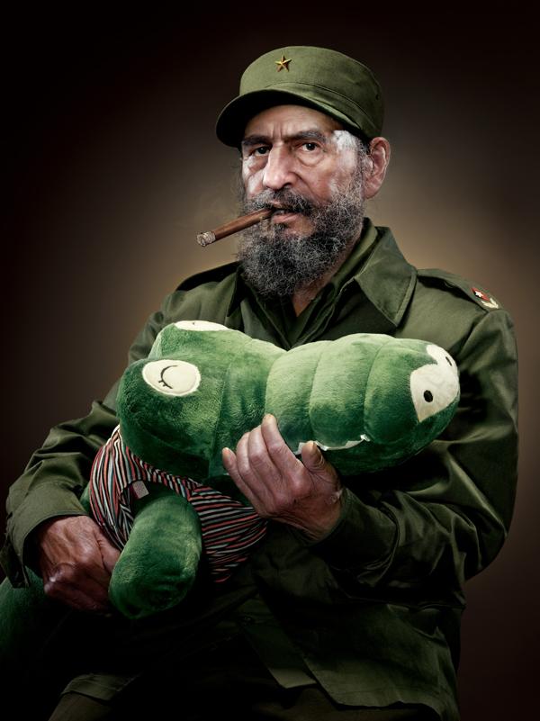 Fidel Castro With Alligator