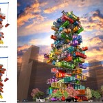 Hive-Inn, A High-Rise Shipping Container Hotel Concept