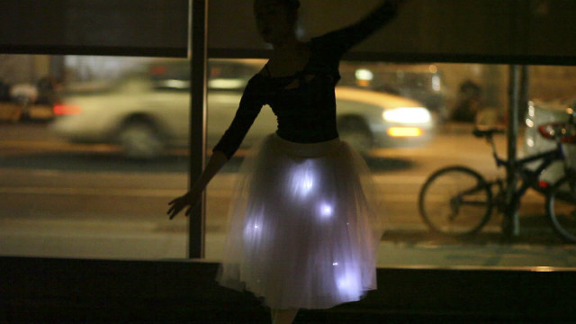 Interactive costumes by NYC Resistor and Brooklyn Ballet