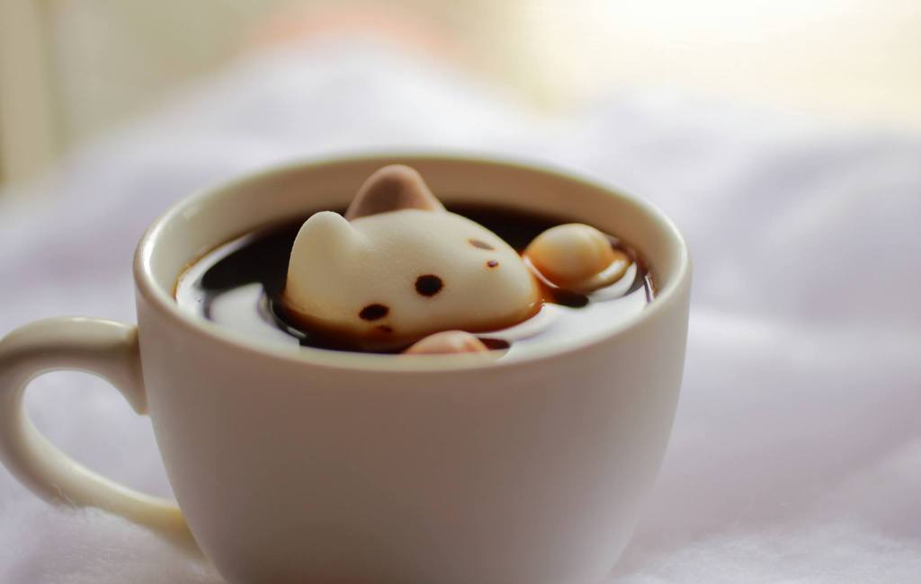 CafeCats, Adorable Marshmallow Kitties That Float Atop Hot Beverages And Pop Up To Say Hello
