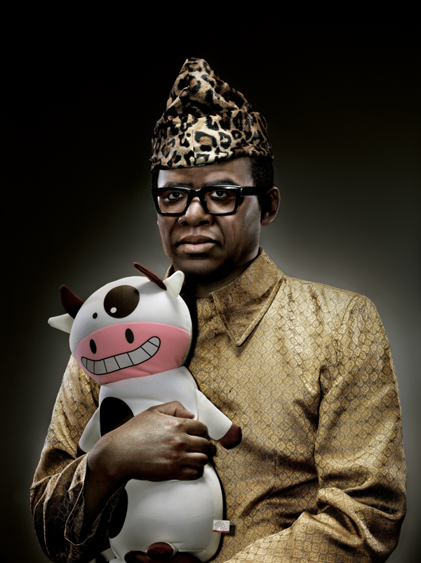 Mobutu Sesé Seko With Cow