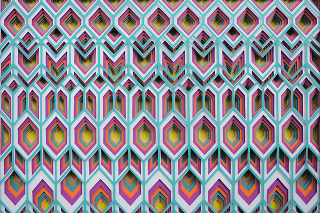 Colorful Geometric Cut Paper Art by Maud Vantours