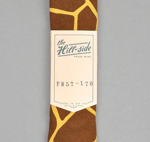 Giraffe Print Pointed Tie