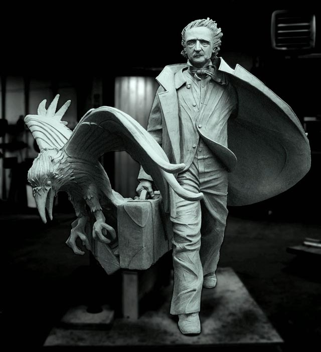 Edgar Allan Poe Statue in Boston