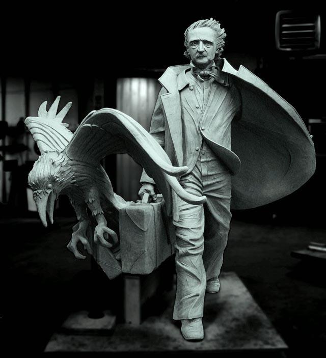 Edgar Allan Poe Statue in Boston
