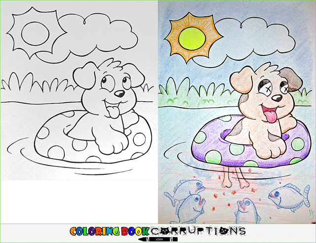 Coloring Book Corruptions Innocent Childrens Pages